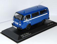 "- Minichamps  -  VW T2 BUS ""THW"" (Bulli)  -  blau  -  1:43  -  400053094  -  NEU"