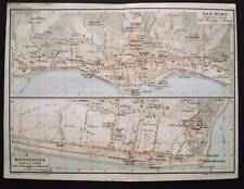 BERTARELLI.Topografia=SAN REMO e BORDIGHERA.ITALY 1907.