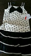 Girls summer outfit Maggie & Zoe 3yrs black and ivory BNWT