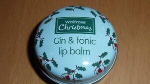 WAITROSE CHRISTMAS GIN & TONIC LIP BALM 15G GIFT PRESENT BRAND NEW