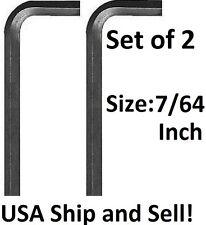 7/64 inch Qty. 2 Allen Wrench Short Arm SAE Hex Key Tool Socket Screw Free Ship