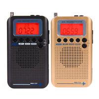 HRD-737 Portable Digital LCD Full Band FM/AM/SW/CB/Air/VHF Stereo Radio Receiver