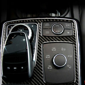 Carbon Fiber Console Gear Shift Panel Trim Fit For Mercedes Benz GLE GLS 2016-18