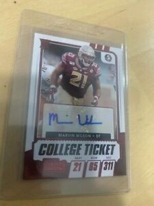 2021 Panini Contenders Red Foil Marvin Wilson Autograph RC Auto FSU Browns