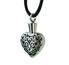Cremation Jewellery - Ashes Urn Pendant Keepsake - Celtic Pattern Heart