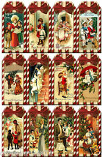 SET OF 12 CHRISTMAS CHILDREN (24) SCRAPBOOK CARD EMBELLISHMENTS HANG GIFT TAGS