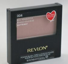 New Revlon Powder Blush With Brush-004 Rosy Rendezvous