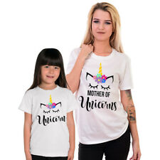 Mother and Baby Cute Unicorn Top Mother And Daughter Matching T-Shirt Girls Gift