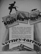 PUBLICITÉ 1927 VERNEY CARRON SOUS LES ARMES HÉLICOBLOC SAINT ÉTIENNE