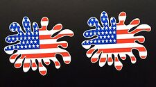 USA Flag Paint Splat Car / Helmet Stickers Iphone Ipad Wall Art V8 Mustang Chevy