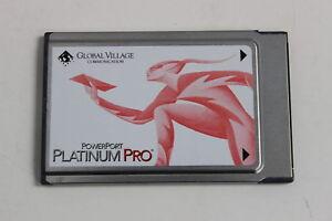 GLOBAL VILLAGE A930 POWERPORT PLATINUM PRO PC CARD 28.8 FAX/MODEM ETHERNET