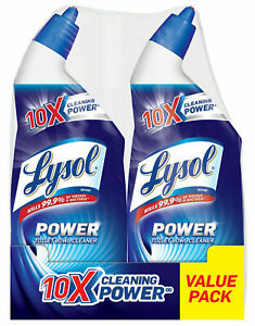 Lysol Power Toilet Bowl Cleaner, 48oz (2X24oz), 10X Cleaning Power Brand New!