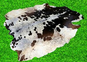 """New Cowhide Rugs Hair On COW HIDE Rugs Area CowSkin Leather Rugs (65"""" x 60"""")"""