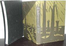 WW1 UNDERTONES of WAR: Edmund Blunden WWI FOLIO SOCIETY HB illus SLIPCASE Boxed