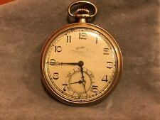 Vintage Wadsworth 20 Years 5427878 Antique Pocket Watch Springfield Co. Illinois