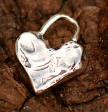 Chunky Heart Charm in Sterling Silver H-521