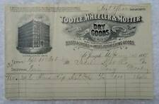 1897 ILLUSTRATED BILLHEAD TOOTLE WHEELER & MOTTER ISDELL PONY MONTANA #HH78