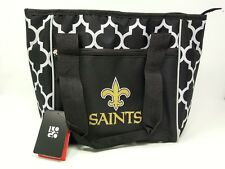 New Orleans Saints NFL Team Logo Soft 16 Can Cooler Tote Bag with Handles ~ New