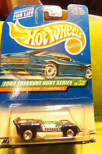 Hot Wheels Treasure Hunt Candy Metallic Blue Chaparral 2 2000 Chrome Wheels