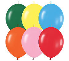"20ct COLOR ASSORTED  Link-o-Loon 12"" Latex Helium Linking Balloons ARCHES ARBORS"