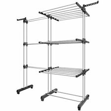 Tomons Clothes Drying Rack Tower, Clothes Dryer Large, Stainless Steel Mobile