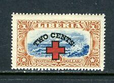 LIBERIA B13, 1918 2c ON $1.00 COAST SCENE,  MNH (LIB055)