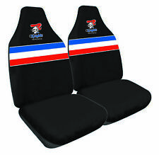 NRL Front Car Seat Covers Newcastle Knights - Set Of 2 One Size Fits All - BNWT