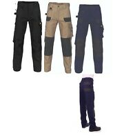 DNC Duratex Cotton Duck Weave Cargo Work Pants 10 pockets Patches in Knee Area