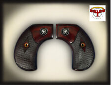 RUGER BIRDSHEAD NEW AND OLD VAQUERO OXBLOOD GRIPS ; SILVER LIBERTY BIRDS HEAD