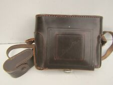 Vintage Dacora 6x6 Leather Folding Camera Case (no camera)
