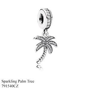 PANDORA Charm Sterling Silver ALE S925 TROPICAL PALM TREE 791540CZ