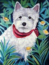 Carolines Treasures 7066CHF Westie Flag Canvas - House Size
