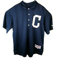 Cleveland Indians Mens 2XL 52 Majestic 1902 Throwback Stitched Jersey Blue Big C