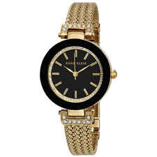 Anne Klein Black Dial Ladies Watch 1906BKGB