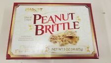 Peanut Brittle , Mascot Thin Crispy 5oz (141g) ~lot of 6 boxes