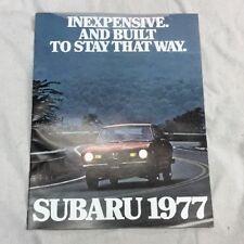 1977 Subaru Original Sales Brochure With Dealer Insert