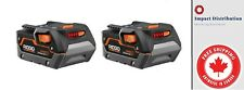 New Ridgid 18-Volt 3.0 Amp Hour Hyper Lithium-Ion Battery Two Pack AC840083