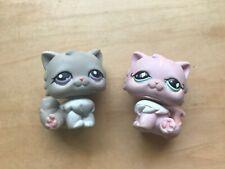 Littlest Pet Shop~#460~Persian~Kitty Cat~White Pink~Gray~Purple~Lps Lot~Sitting