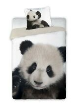 Set Letto Cotone PANDA WILD Natura Animali COPRIPIUMINO 160x200 Bed Duvet COVER