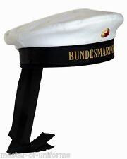 Marine Tellermütze mit Abzeichen - Marinemütze - Matrosenmütze blau oder weiß