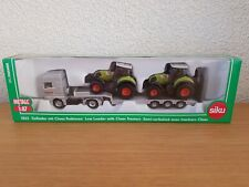 SIKU 1823 MAN Truck Low Loader with 2 Claas tractors / scale 1:87 / NEW