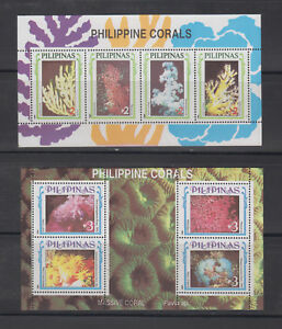 Philippine Stamps 1994 Philippine Corals 2 Souvenir Sheets MNH
