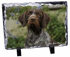 More details for german pointer 'love you dad' photo slate christmas gift ornament, dad-48sl