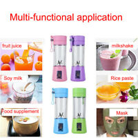 Blender USB Rechargeable Juicer Fruit Mixing Machine For.Travel.Portable 380Ml