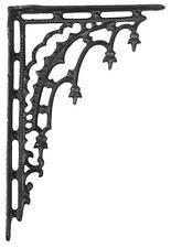 """B&P Lamp 12"""" Iron Shelf Bracket, Gothic, Pair"""