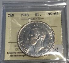 1948 Canada Silver Dollar Key Date - ICCS MS-65 - #XJL 866 - Superb Investment