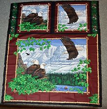 Vintage Springs Industries Flying Eagle Quilt / Pillows Craft Panel Nos