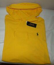 NWT MEN'S Ralph Lauren L/S Hooded Polo Shirt~YELLOW~SZ XL
