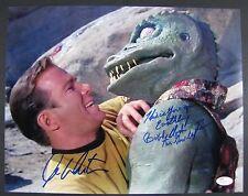 William Shatner Bobby Clark Gorn Signed Autograph JSA Star Trek Kirk 11 x 14