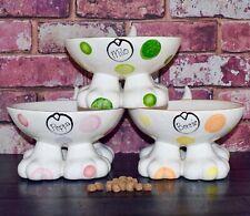 Personalised ceramic dog bowl hand painted dog bowl elevated dog bowl dog dish